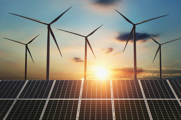 concept-clean-energy-wind-turbine-solar-panel-sunrise-background_34152-1328